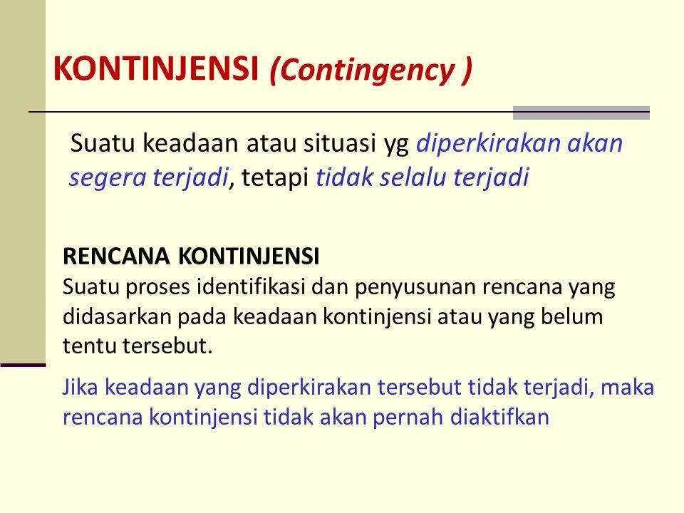 KONTINJENSI (Contingency )