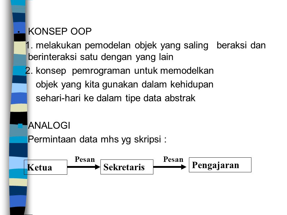 2. konsep pemrograman untuk memodelkan