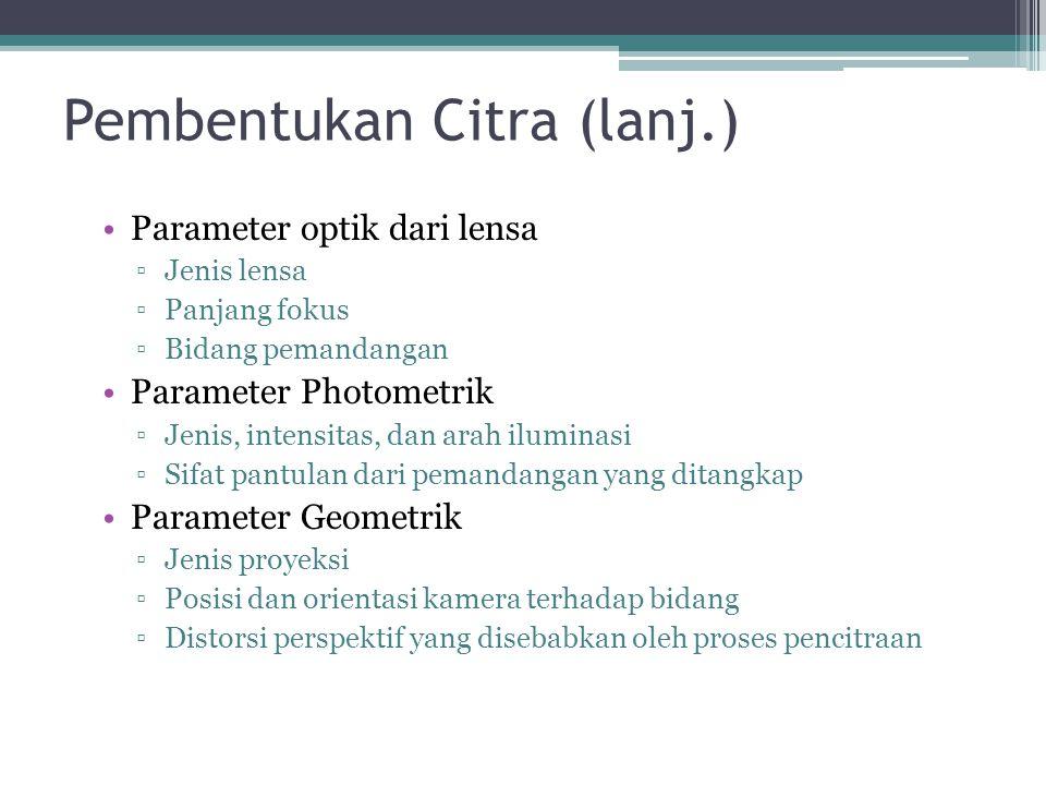 Pembentukan Citra (lanj.)