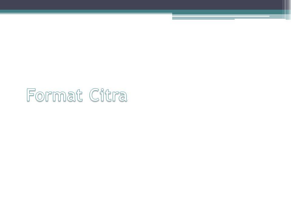 Format Citra