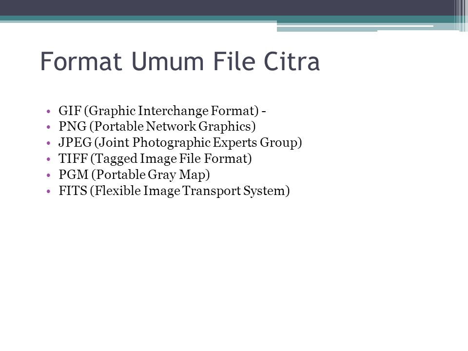 Format Umum File Citra GIF (Graphic Interchange Format) -