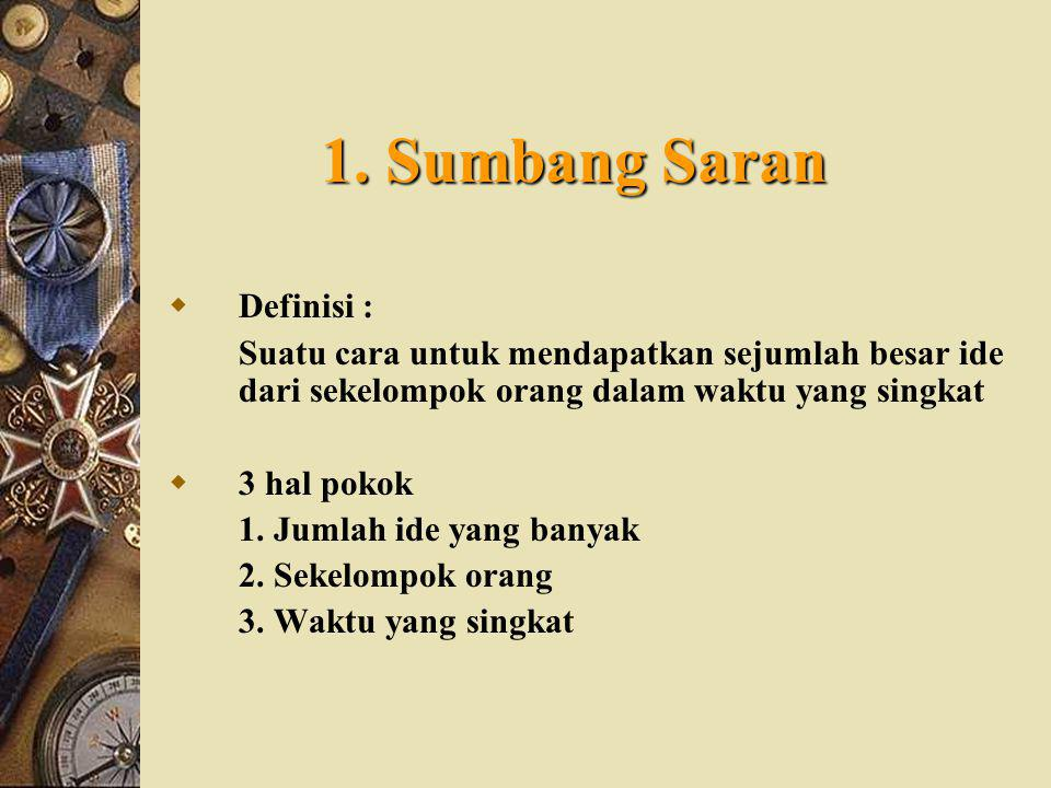 1. Sumbang Saran Definisi :