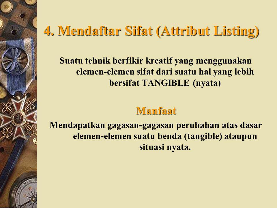 4. Mendaftar Sifat (Attribut Listing)