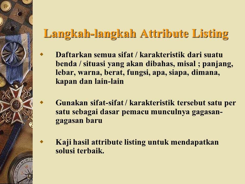 Langkah-langkah Attribute Listing