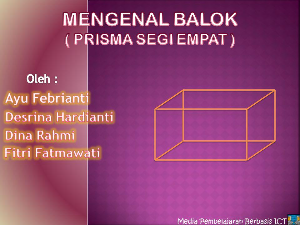 MENGENAL BALOK ( PRISMA SEGI EMPAT )