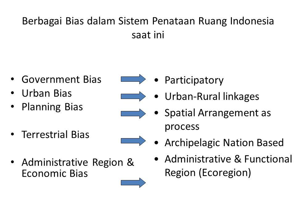 Berbagai Bias dalam Sistem Penataan Ruang Indonesia saat ini