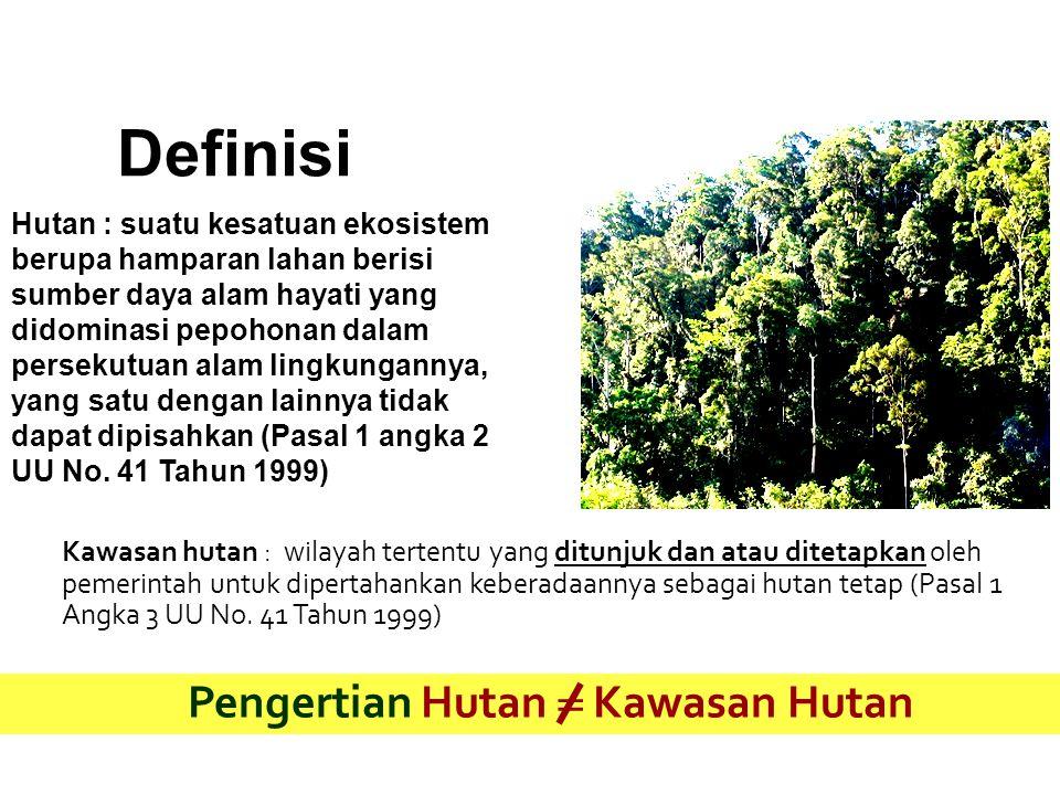 Pengertian Hutan  Kawasan Hutan