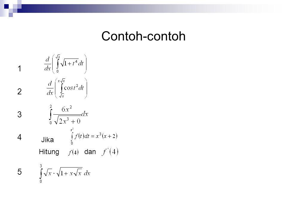 Contoh-contoh 1 2 3 4 5 Jika Hitung dan