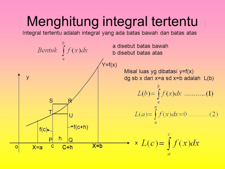 Menghitung integral tertentu