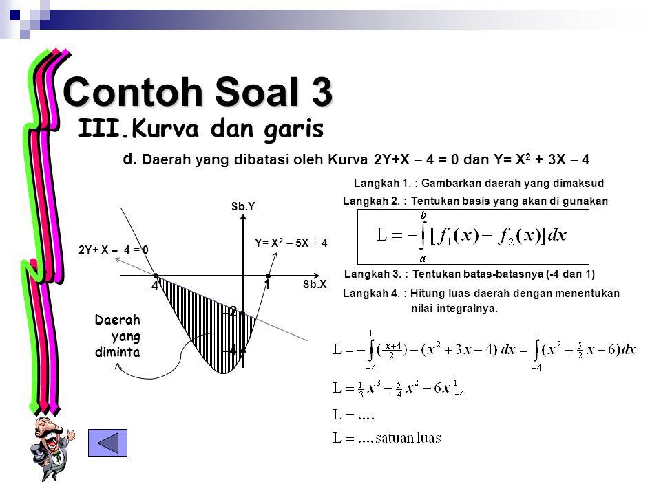 Contoh Soal 3 Kurva dan garis