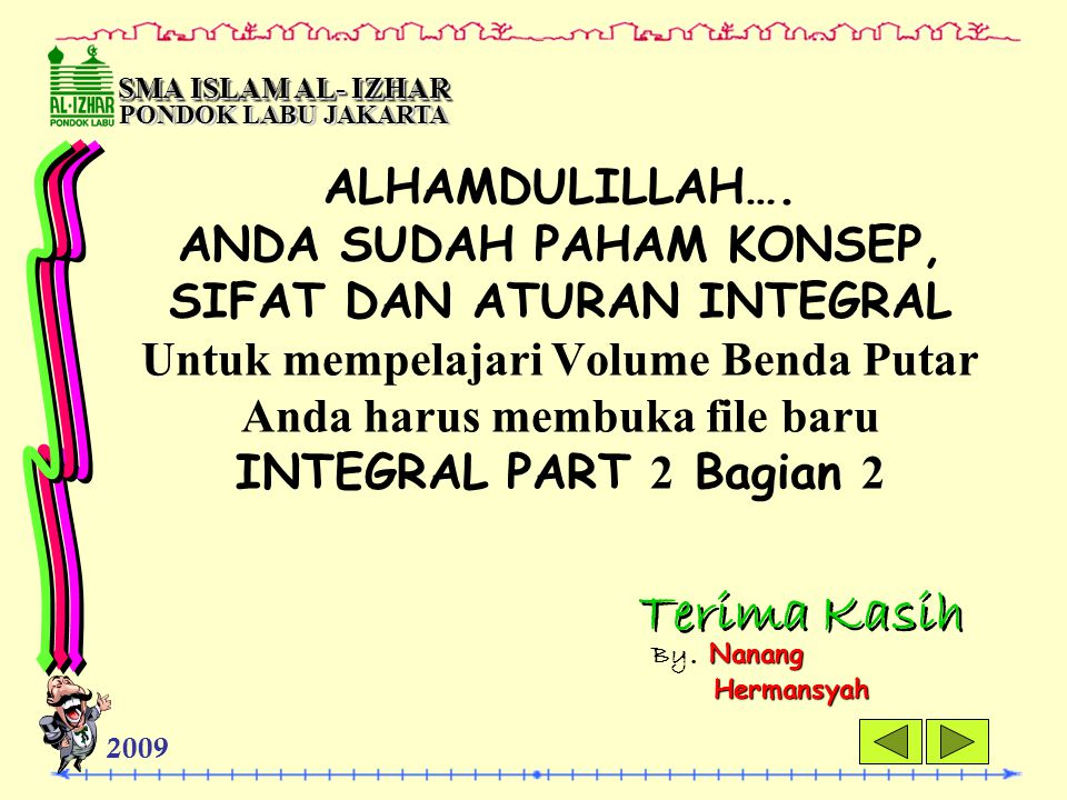 SMA ISLAM AL- IZHAR PONDOK LABU JAKARTA.