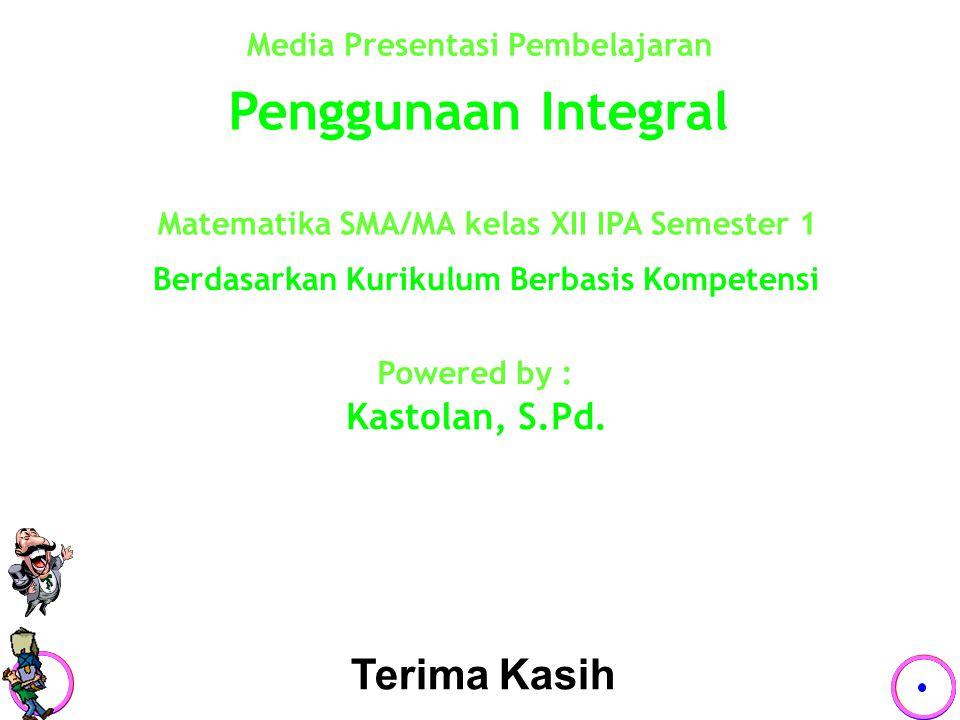 Penggunaan Integral Terima Kasih Kastolan, S.Pd.