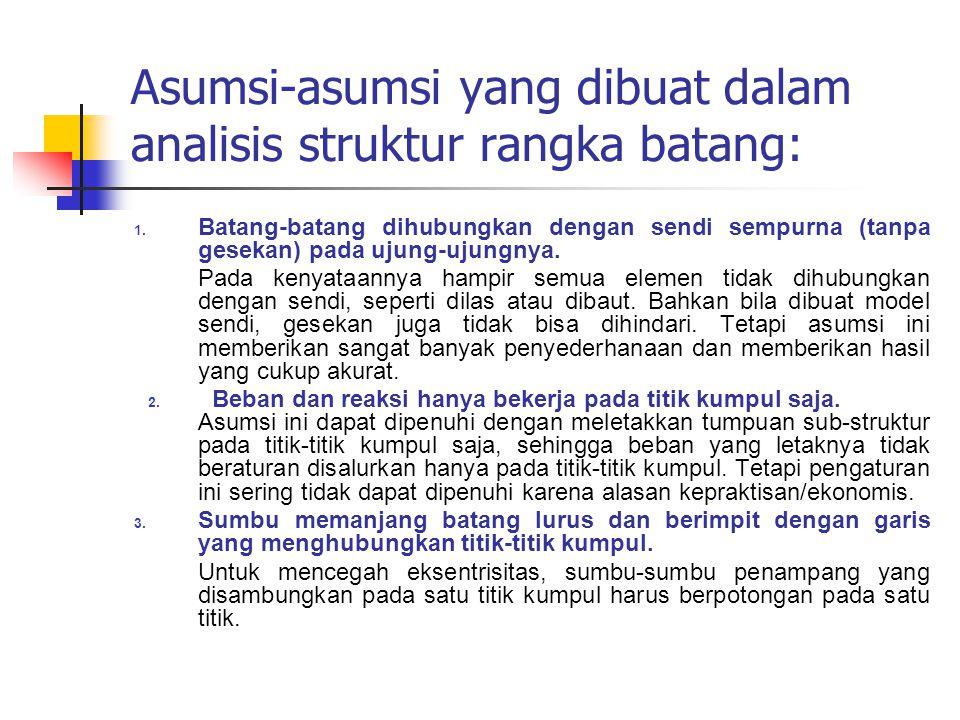 Asumsi-asumsi yang dibuat dalam analisis struktur rangka batang: