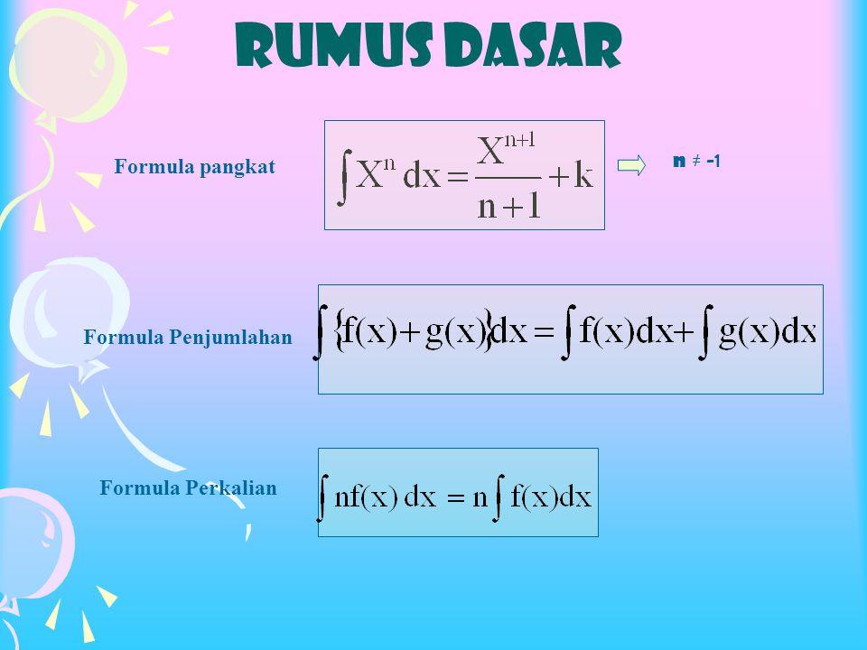 RUMUS DASAR n ≠ -1 Formula pangkat Formula Penjumlahan