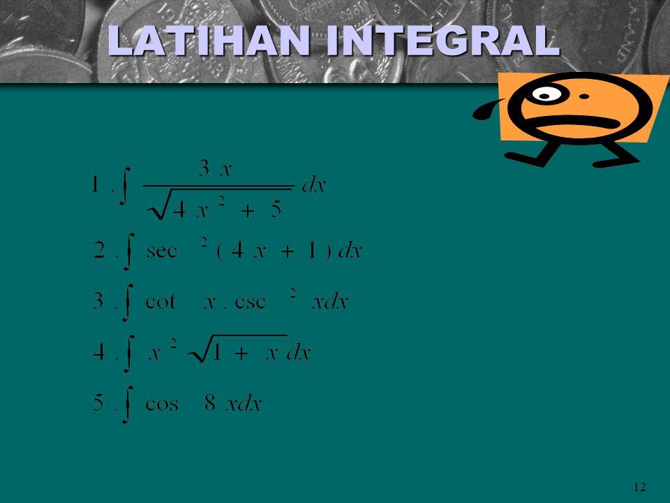 LATIHAN INTEGRAL