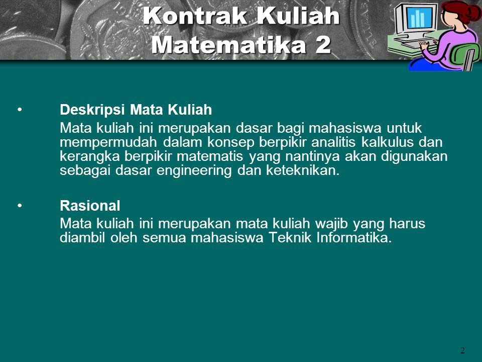 Kontrak Kuliah Matematika 2