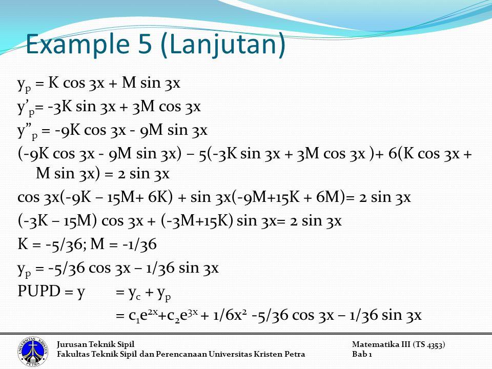 Example 5 (Lanjutan)