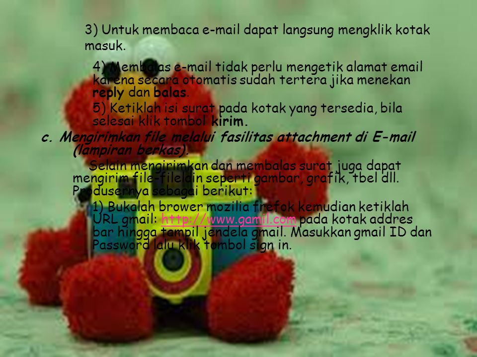 3) Untuk membaca e-mail dapat langsung mengklik kotak masuk.