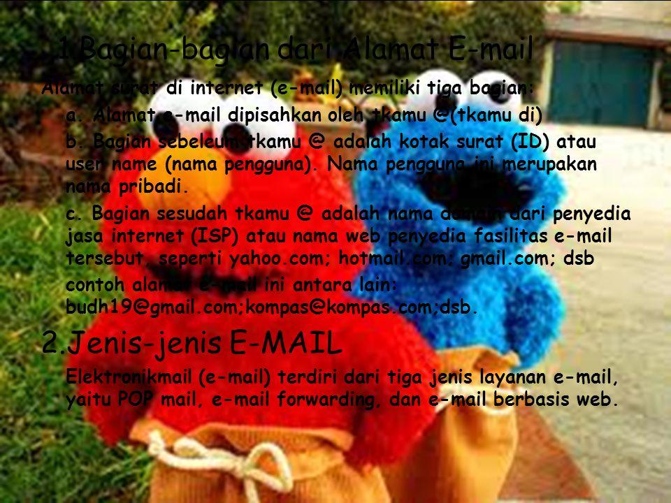 1.Bagian-bagian dari Alamat E-mail