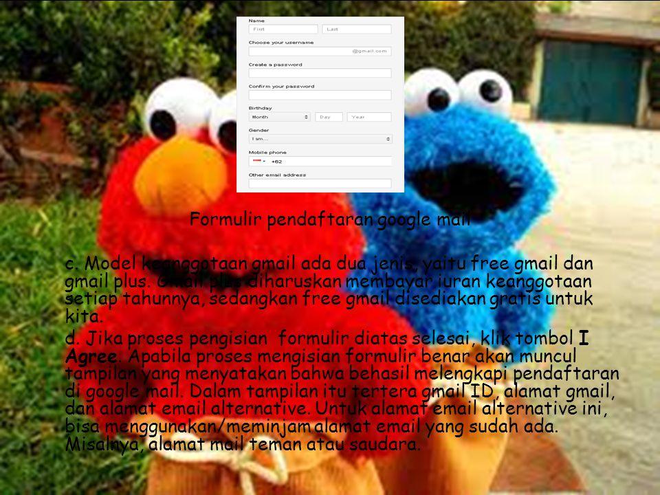 Formulir pendaftaran google mail