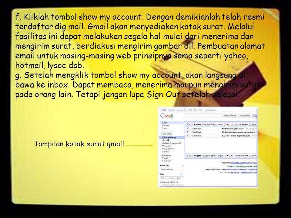Tampilan kotak surat gmail