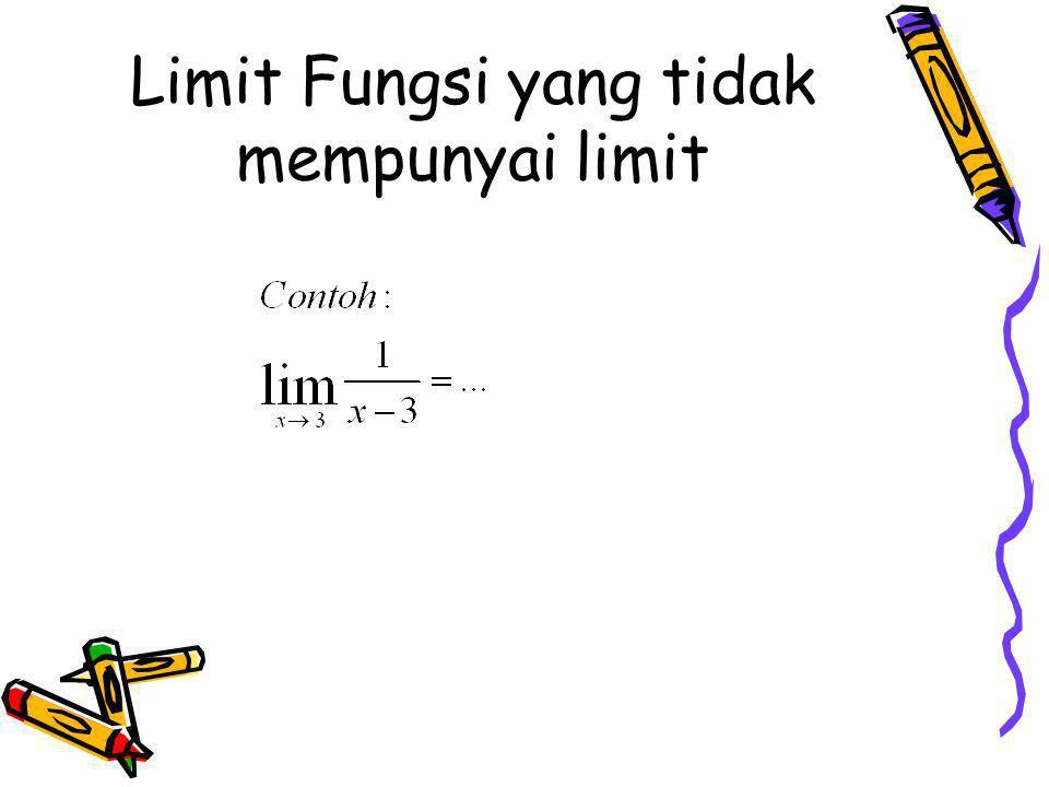 Limit Fungsi yang tidak mempunyai limit