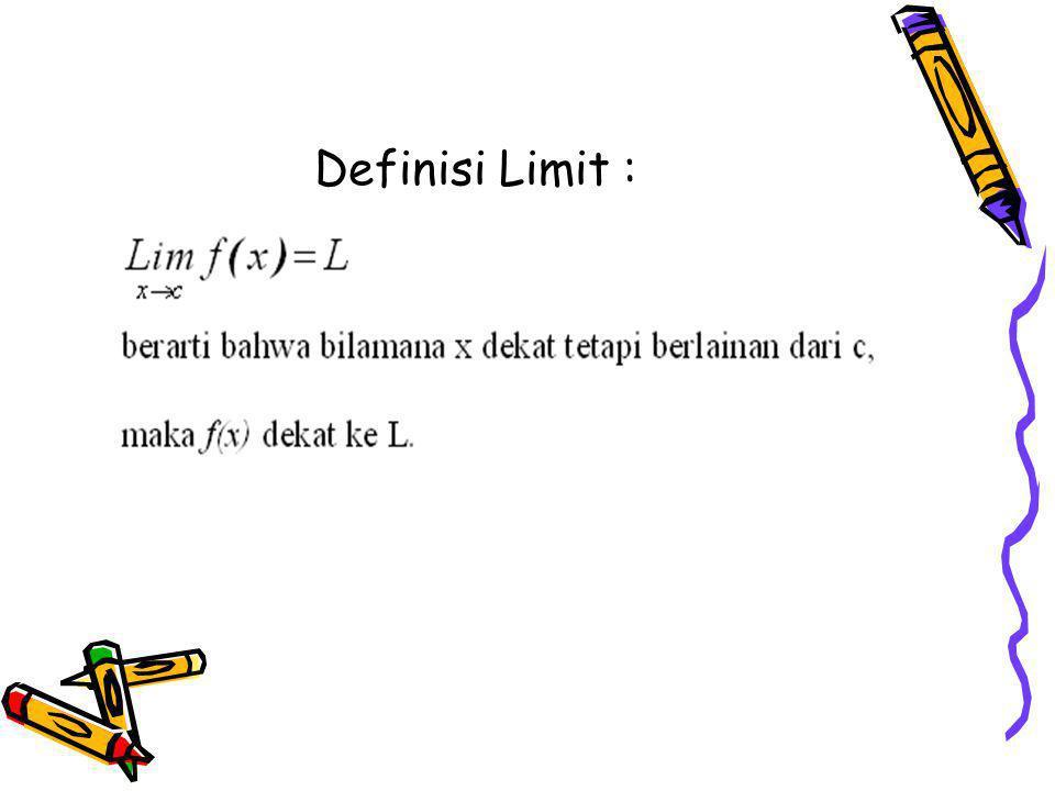Definisi Limit :