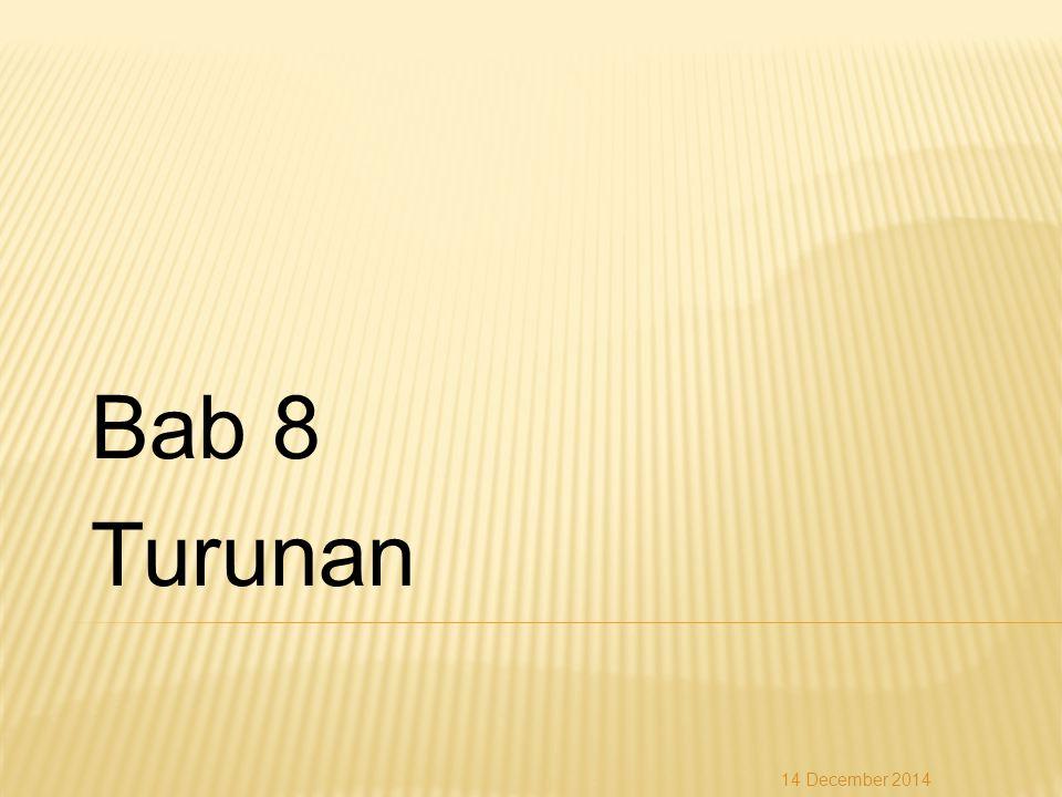 Bab 8 Turunan 7 April 2017