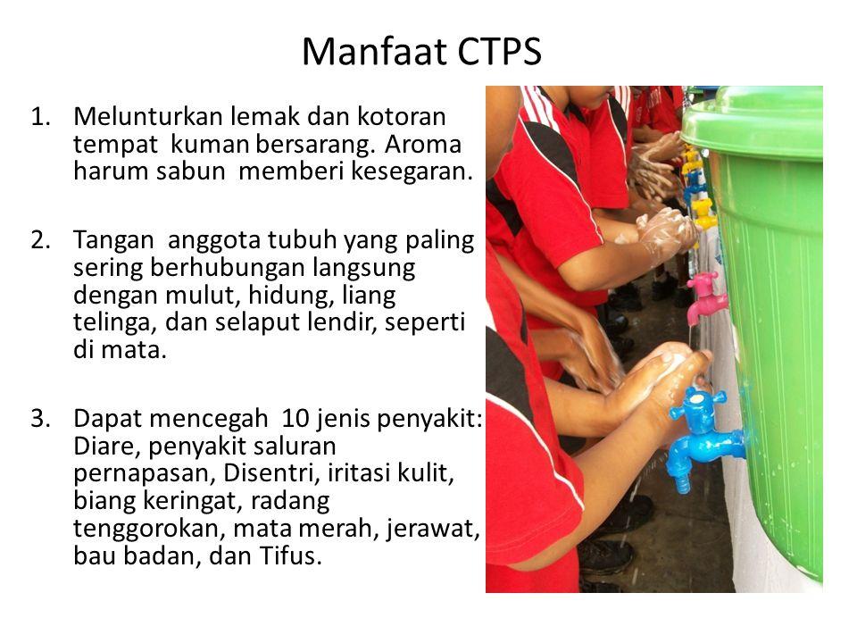 Manfaat CTPS Melunturkan lemak dan kotoran tempat kuman bersarang. Aroma harum sabun memberi kesegaran.