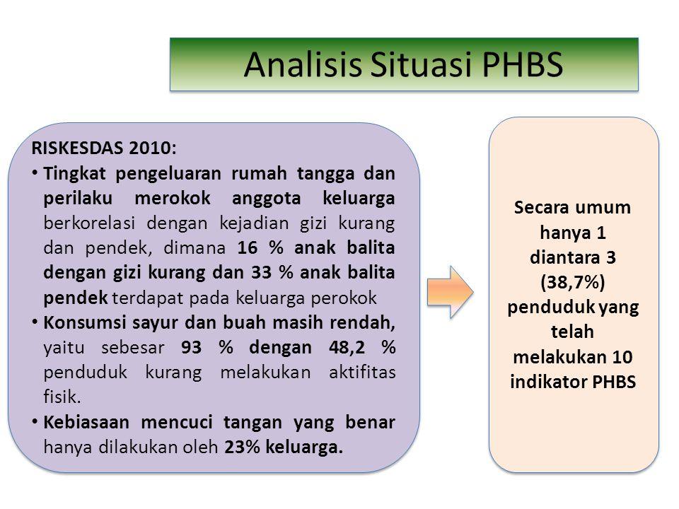 Analisis Situasi PHBS RISKESDAS 2010: