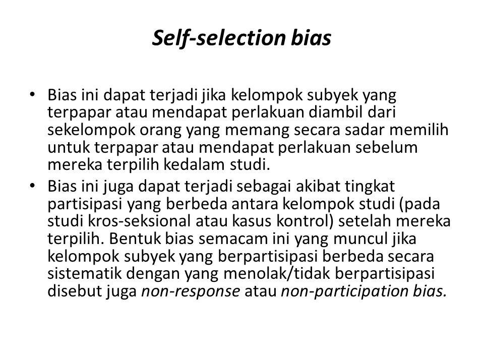 Self-selection bias