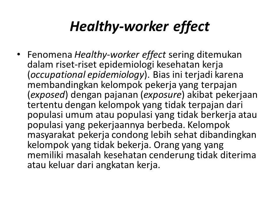 Healthy-worker effect