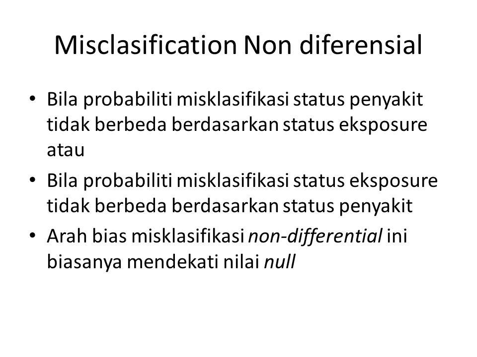 Misclasification Non diferensial