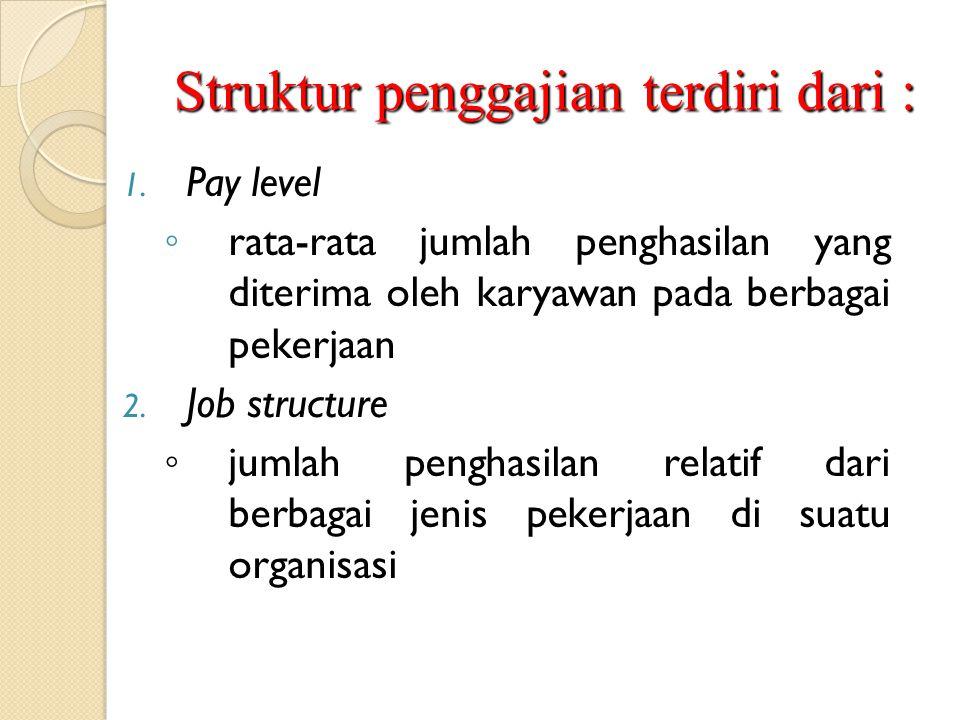 Struktur penggajian terdiri dari :