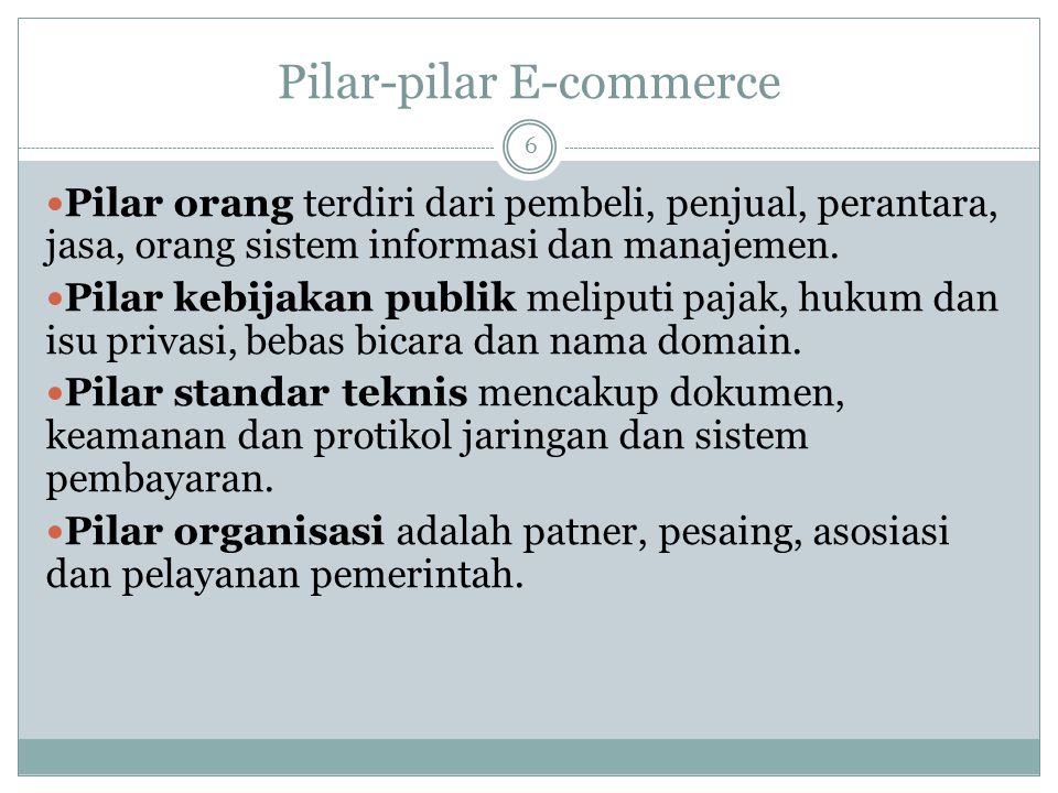 Pilar-pilar E-commerce