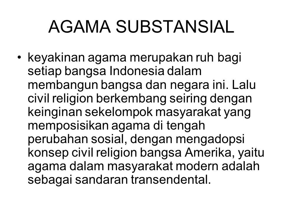 AGAMA SUBSTANSIAL