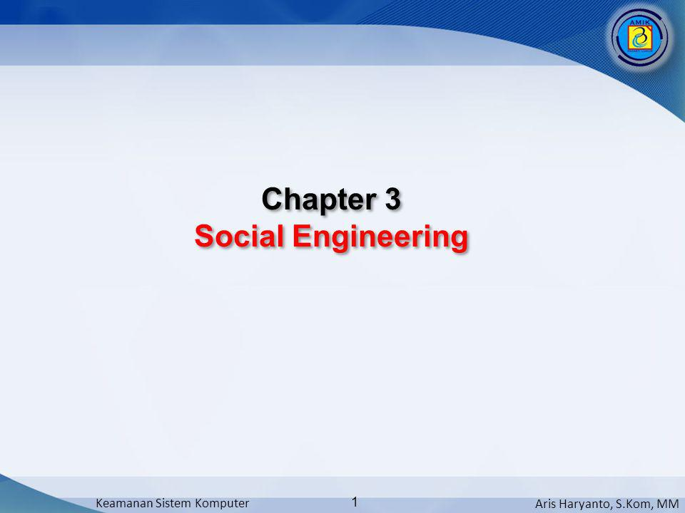 Chapter 3 Social Engineering