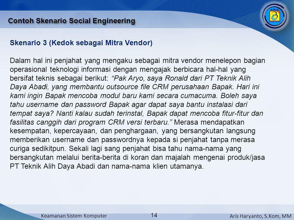 Contoh Skenario Social Engineering