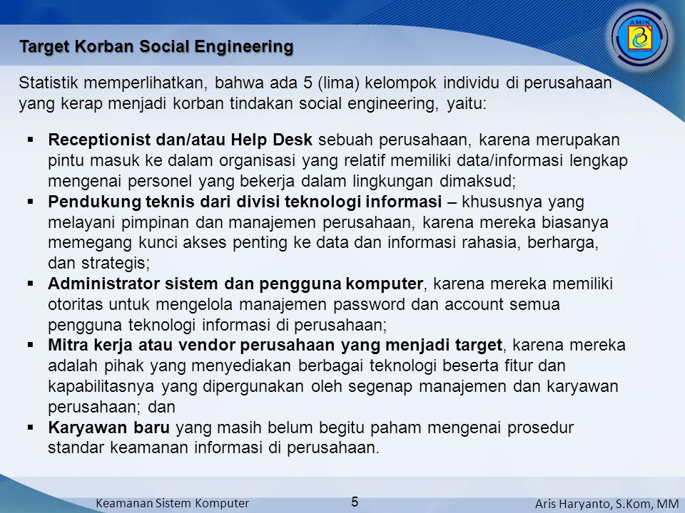 Target Korban Social Engineering