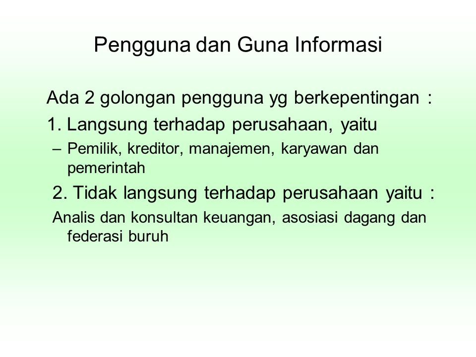 Pengguna dan Guna Informasi