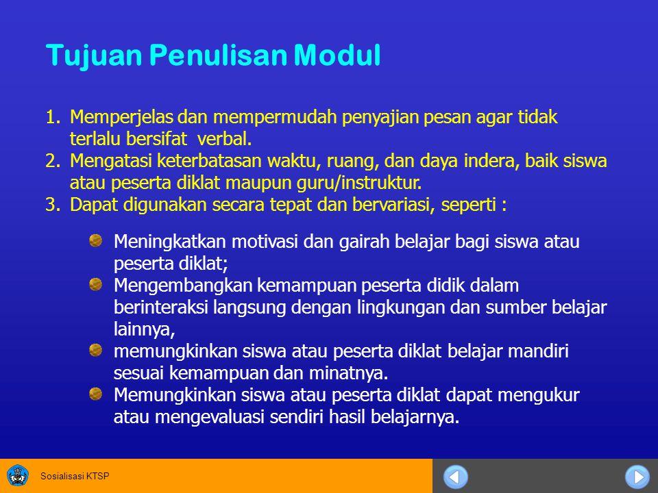 Tujuan Penulisan Modul