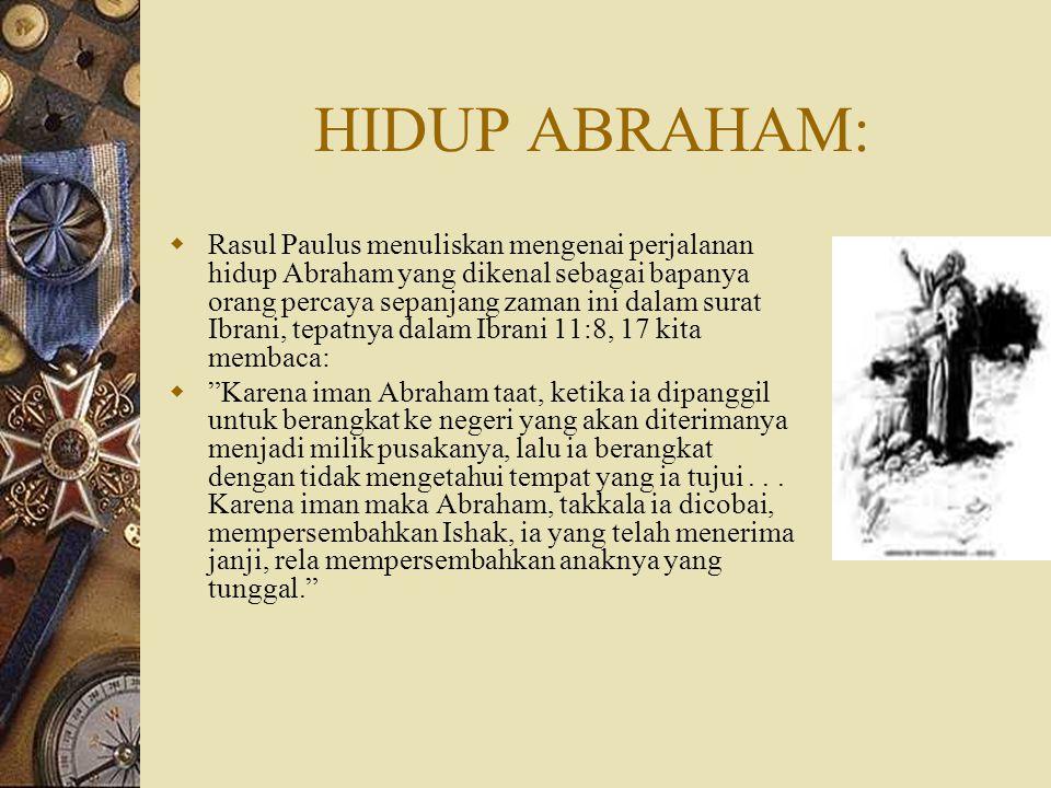 HIDUP ABRAHAM:
