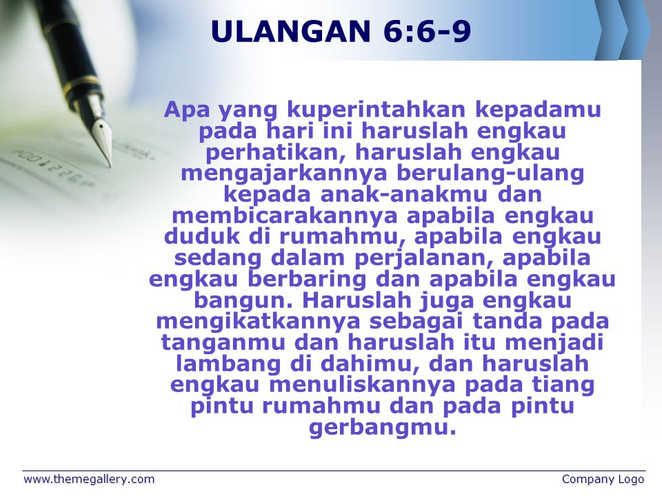 ULANGAN 6:6-9