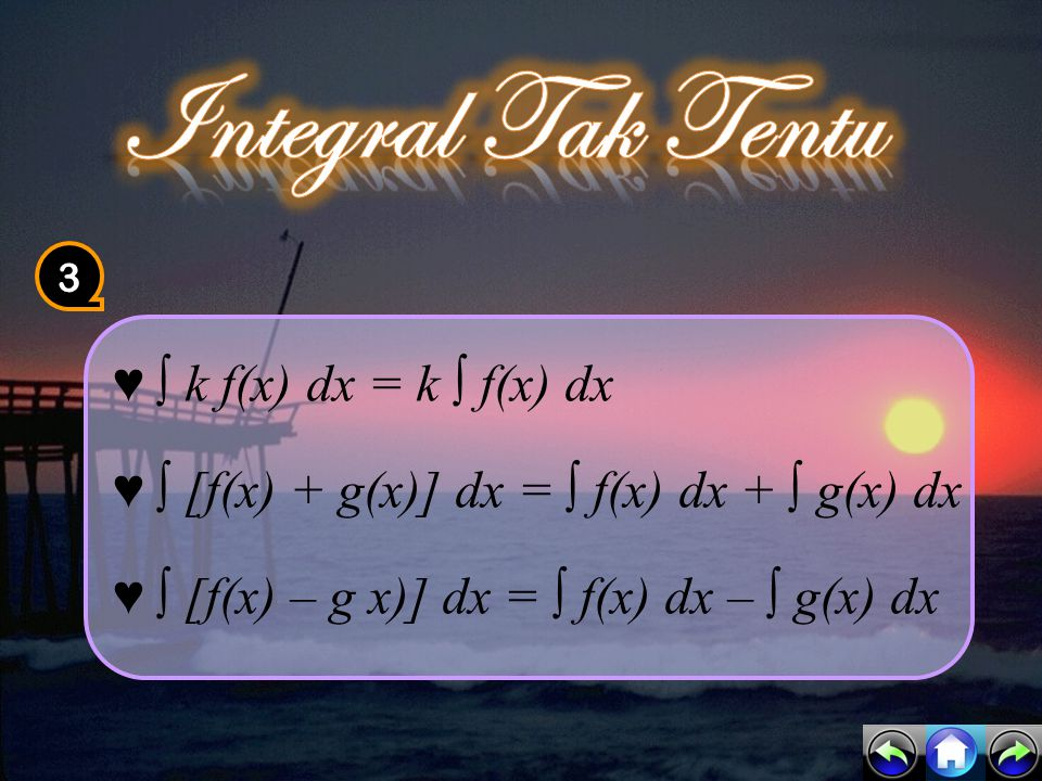 Integral Tak Tentu 3.