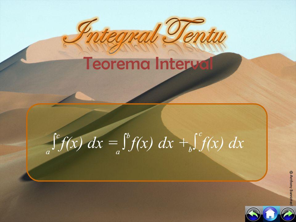 ∫ f(x) dx = ∫ f(x) dx + ∫ f(x) dx