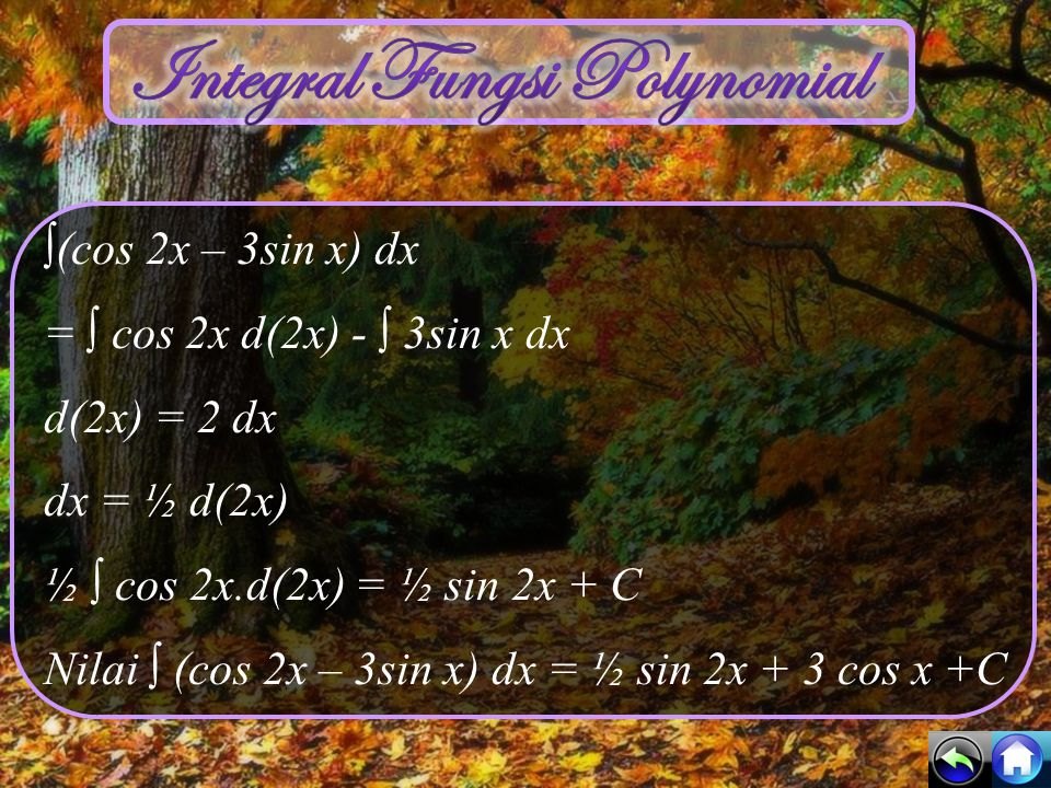 Integral Fungsi Polynomial
