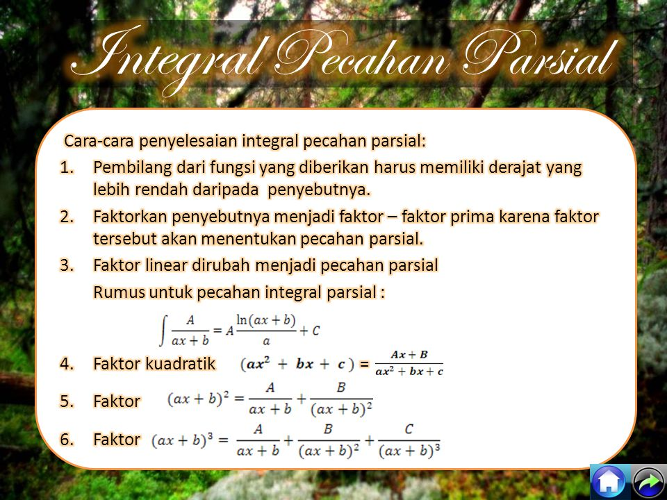 Integral Pecahan Parsial
