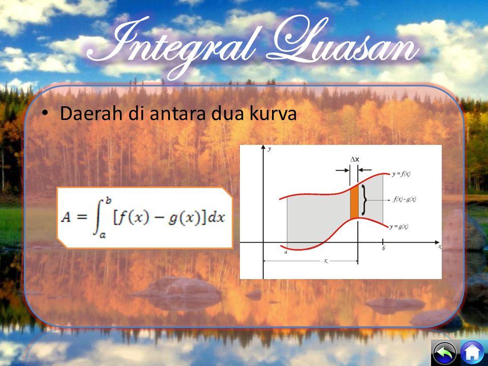 Integral Luasan Daerah di antara dua kurva