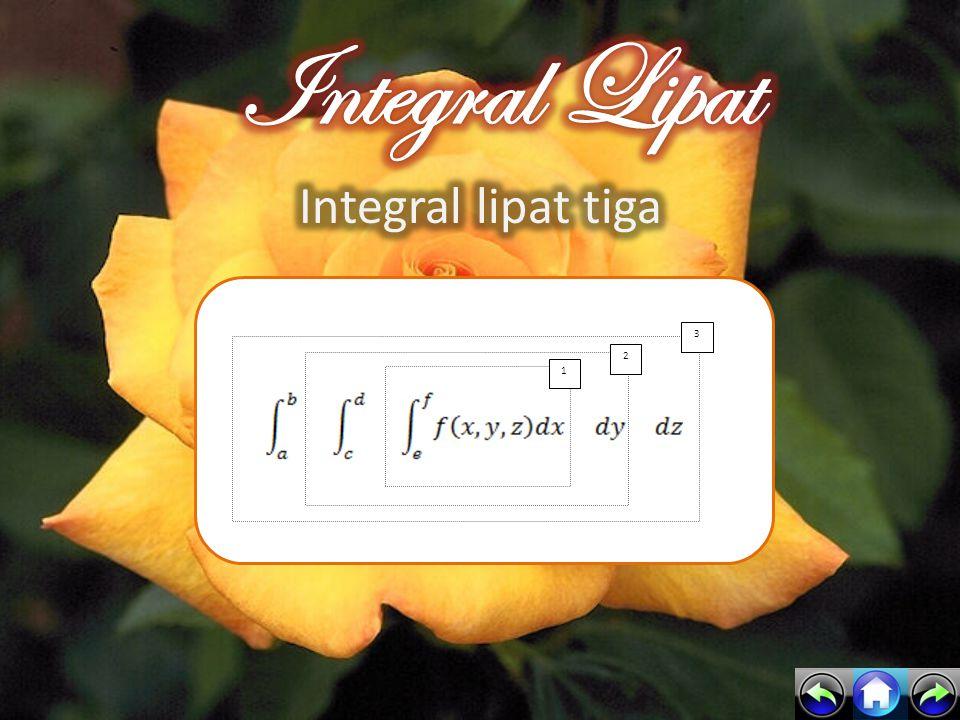 Integral Lipat Integral lipat tiga 1 2 3