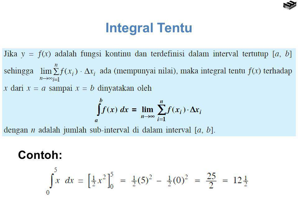 Integral Tentu Contoh: